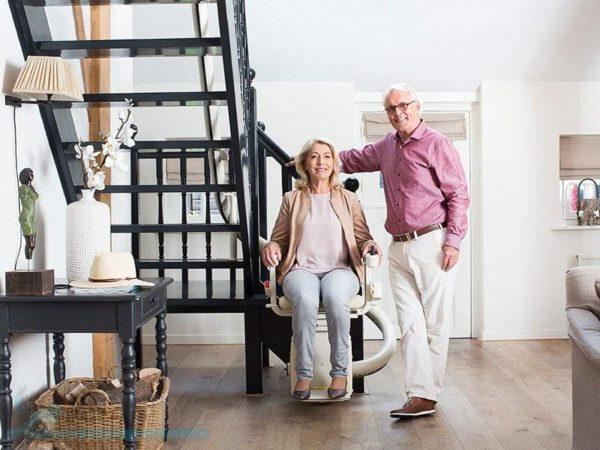 monte-escalier tournant mobilys