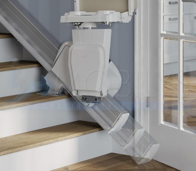 Option rail coulissant du siège monte escalier droit Mobilys