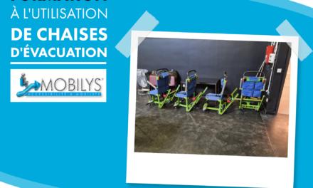 Formation à l'utilisation des chaises d'evacuation pour la comedie de valence