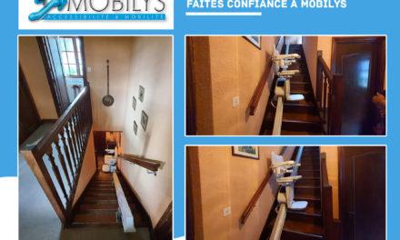 Installation monte escalier droit à lyon