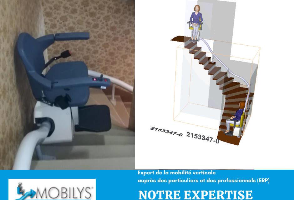 Installation d'un siège monte escalier à Virage dans la Drôme