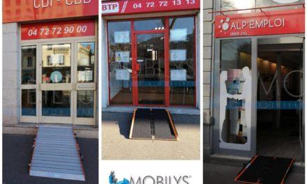 Installation de rampes d'accès pour des commerces de proximité à Lyon, Grenoble, Chambery et Saint-Etienne